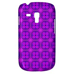 Abstract Dancing Diamonds Purple Violet Samsung Galaxy S3 Mini I8190 Hardshell Case by DianeClancy