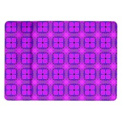 Abstract Dancing Diamonds Purple Violet Samsung Galaxy Tab 10 1  P7500 Flip Case by DianeClancy