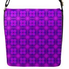 Abstract Dancing Diamonds Purple Violet Flap Messenger Bag (s) by DianeClancy