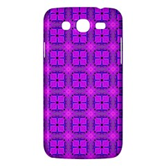 Abstract Dancing Diamonds Purple Violet Samsung Galaxy Mega 5 8 I9152 Hardshell Case  by DianeClancy