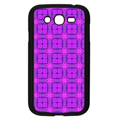 Abstract Dancing Diamonds Purple Violet Samsung Galaxy Grand Duos I9082 Case (black) by DianeClancy