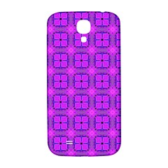 Abstract Dancing Diamonds Purple Violet Samsung Galaxy S4 I9500/i9505  Hardshell Back Case by DianeClancy