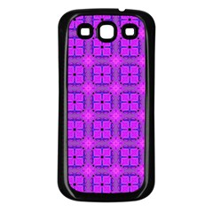 Abstract Dancing Diamonds Purple Violet Samsung Galaxy S3 Back Case (black) by DianeClancy