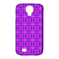 Abstract Dancing Diamonds Purple Violet Samsung Galaxy S4 Classic Hardshell Case (pc+silicone) by DianeClancy