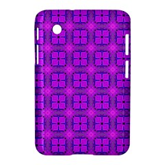 Abstract Dancing Diamonds Purple Violet Samsung Galaxy Tab 2 (7 ) P3100 Hardshell Case  by DianeClancy