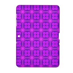 Abstract Dancing Diamonds Purple Violet Samsung Galaxy Tab 2 (10 1 ) P5100 Hardshell Case  by DianeClancy
