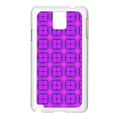 Abstract Dancing Diamonds Purple Violet Samsung Galaxy Note 3 N9005 Case (white) by DianeClancy