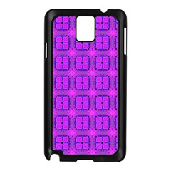 Abstract Dancing Diamonds Purple Violet Samsung Galaxy Note 3 N9005 Case (black) by DianeClancy