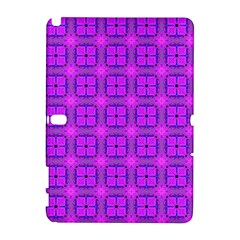 Abstract Dancing Diamonds Purple Violet Samsung Galaxy Note 10 1 (p600) Hardshell Case by DianeClancy