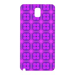 Abstract Dancing Diamonds Purple Violet Samsung Galaxy Note 3 N9005 Hardshell Back Case by DianeClancy