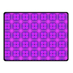 Abstract Dancing Diamonds Purple Violet Double Sided Fleece Blanket (small)  by DianeClancy