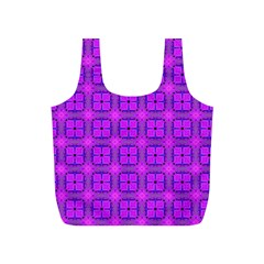 Abstract Dancing Diamonds Purple Violet Full Print Recycle Bags (s)  by DianeClancy