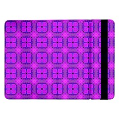 Abstract Dancing Diamonds Purple Violet Samsung Galaxy Tab Pro 12 2  Flip Case by DianeClancy