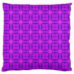 Abstract Dancing Diamonds Purple Violet Large Flano Cushion Case (one Side) by DianeClancy