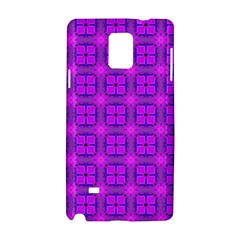 Abstract Dancing Diamonds Purple Violet Samsung Galaxy Note 4 Hardshell Case by DianeClancy