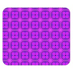 Abstract Dancing Diamonds Purple Violet Double Sided Flano Blanket (small)  by DianeClancy