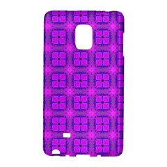 Abstract Dancing Diamonds Purple Violet Galaxy Note Edge by DianeClancy