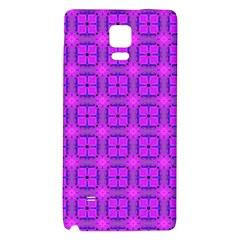 Abstract Dancing Diamonds Purple Violet Galaxy Note 4 Back Case by DianeClancy