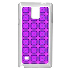 Abstract Dancing Diamonds Purple Violet Samsung Galaxy Note 4 Case (white) by DianeClancy