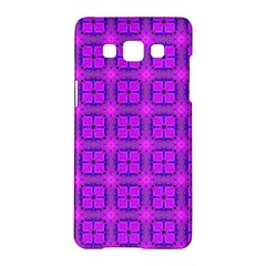 Abstract Dancing Diamonds Purple Violet Samsung Galaxy A5 Hardshell Case  by DianeClancy