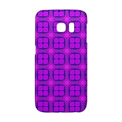 Abstract Dancing Diamonds Purple Violet Galaxy S6 Edge by DianeClancy