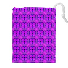 Abstract Dancing Diamonds Purple Violet Drawstring Pouches (xxl) by DianeClancy