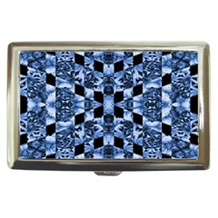 Indigo Check Ornate Print Cigarette Money Cases