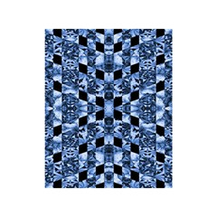 Indigo Check Ornate Print Shower Curtain 48  X 72  (small)  by dflcprints