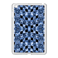 Indigo Check Ornate Print Apple Ipad Mini Case (white) by dflcprints