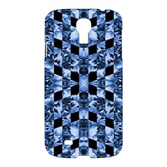Indigo Check Ornate Print Samsung Galaxy S4 I9500/i9505 Hardshell Case by dflcprints