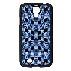 Indigo Check Ornate Print Samsung Galaxy S4 I9500/ I9505 Case (black) by dflcprints