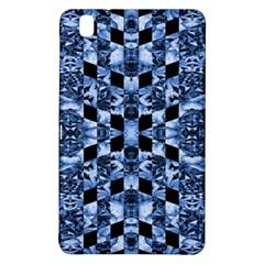 Indigo Check Ornate Print Samsung Galaxy Tab Pro 8 4 Hardshell Case by dflcprints