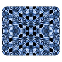 Indigo Check Ornate Print Double Sided Flano Blanket (small)  by dflcprints