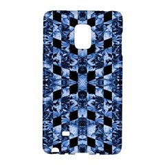 Indigo Check Ornate Print Galaxy Note Edge by dflcprints
