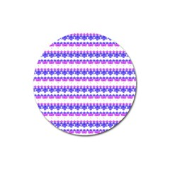 Floral Stripes Pattern Magnet 3  (Round) by dflcprints