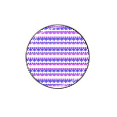 Floral Stripes Pattern Hat Clip Ball Marker (4 Pack) by dflcprints