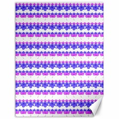 Floral Stripes Pattern Canvas 12  X 16   by dflcprints
