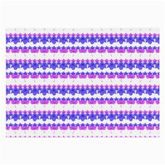 Floral Stripes Pattern Large Glasses Cloth by dflcprints