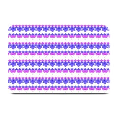 Floral Stripes Pattern Plate Mats