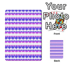 Floral Stripes Pattern Multi Purpose Cards (rectangle)  by dflcprints