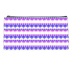 Floral Stripes Pattern Pencil Cases by dflcprints