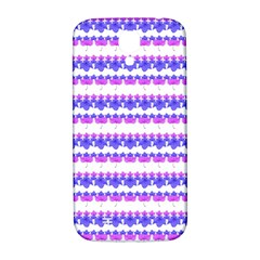 Floral Stripes Pattern Samsung Galaxy S4 I9500/i9505  Hardshell Back Case by dflcprints