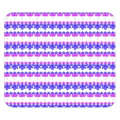 Floral Stripes Pattern Double Sided Flano Blanket (small)  by dflcprints