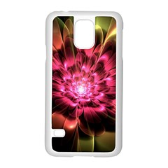 Red Peony Samsung Galaxy S5 Case (White) by Delasel