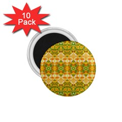 Boho Stylized Floral Stripes 1 75  Magnets (10 Pack)  by dflcprints