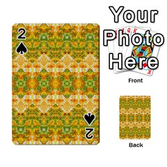 Boho Stylized Floral Stripes Playing Cards 54 Designs