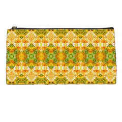 Boho Stylized Floral Stripes Pencil Cases by dflcprints
