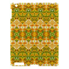 Boho Stylized Floral Stripes Apple Ipad 3/4 Hardshell Case by dflcprints