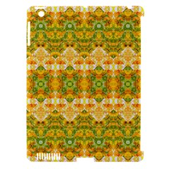 Boho Stylized Floral Stripes Apple Ipad 3/4 Hardshell Case (compatible With Smart Cover) by dflcprints