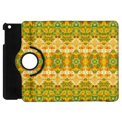 Boho Stylized Floral Stripes Apple Ipad Mini Flip 360 Case by dflcprints